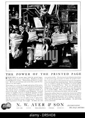 1922 American Folleto folleto y el poder de la página impresa por F.R.Gruger