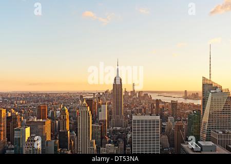 Empire State Building Vista aérea del horizonte de Nueva York