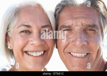 Close Up retrato de pareja feliz