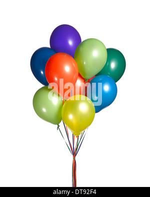 Cortar un disparo de un montón de globos. Foto de stock