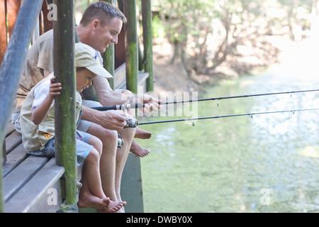 Padre e hijos la pesca por stream