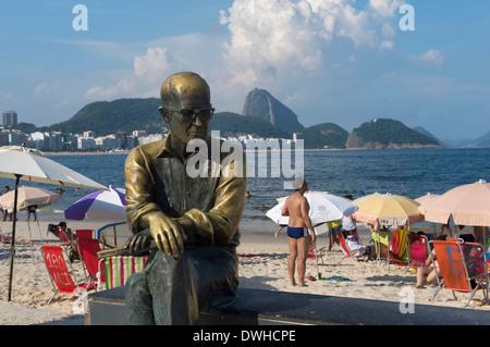 Estatua de Carlos Drumont de Andrade, Rio de Janeiro.