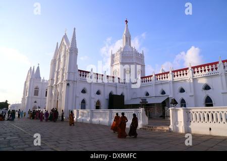 Santuario Basílica de Nuestra Señora de la salud de Vailankanni, distrito de Nagapattinam, Tamil Nadu, India