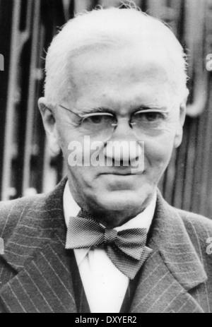 ALEXANDER Fleming (1881-1955) biólogo escocés quien descubrió la penicilina Foto de stock