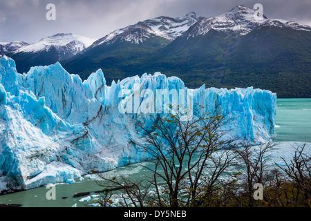 El Glaciar Perito Moreno es un glaciar ubicado en el Parque Nacional Los Glaciares, en el sudoeste de la provincia de Santa Cruz, Argentina. Foto de stock