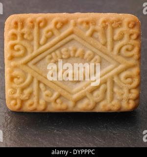 Crema de flan de galletas, Foto de Estudio Foto de stock