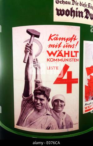Un cartel electoral del Partido Comunista Alemán (KPD) líder Wahlt Thalmann de los turbulentos años 1930