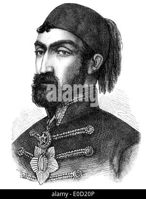 Omar Pasha o Omar Latas o Mihajlo Latas, 1806-1871, y el gobernador general otomano, comandante en la guerra de Crimea, 1853 - 1856