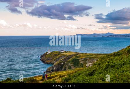 Irlanda, Dublin County, la bahía de Dublín, visto desde el cabecero Howth