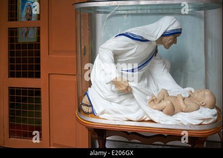 La India, Bengala Occidental, Kolkata, Calcuta, la Madre Teresa hospice Foto de stock