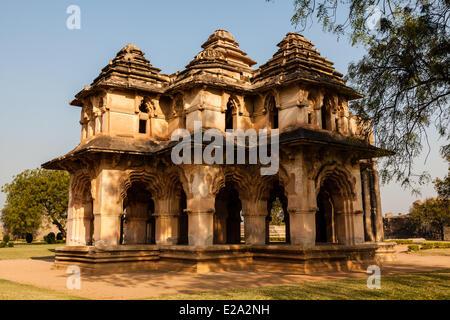 La India, en el estado de Karnataka, Hampi, Zenana, Lotus Mahal, catalogada como Patrimonio de la Humanidad por la UNESCO