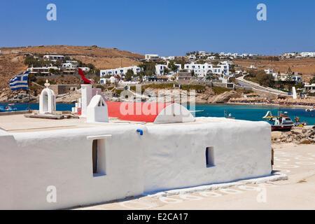 En Grecia, las Islas Cícladas, la isla de Mykonos, Kalafatis beach