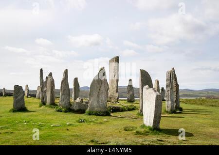 Círculo de piedra neolítica de Callanish Standing Stones desde 4500 BC Calanais Isle of Lewis Outer Hebrides Islas occidentales de Escocia UK