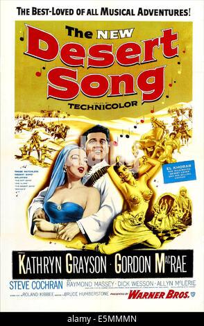 La nueva canción del desierto, nosotros, desde la izquierda: póster Kathryn Grayson, Gordon MacRae, 1953