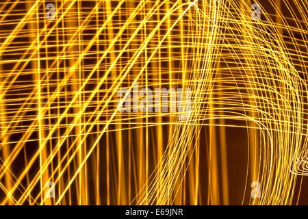 Rayas de luz,vía de luces Foto de stock