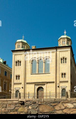 La Gran Sinagoga en Stora Nygatan, cerca Drottningtorget, Goteburgo, Suecia.