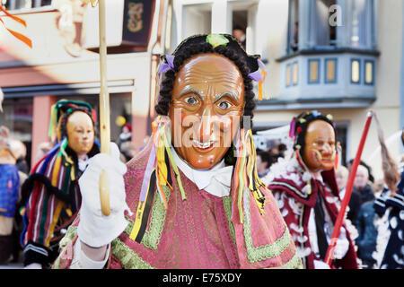 Festival Narrensprung Rottweiler Fastnacht festival, Rottweil, Swabian-Alemannic festival de Mardi Gras, Selva Negra.