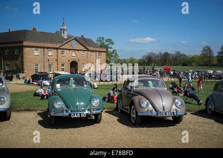 Bellamente mantenido Volkswagen Beetle clásico coche.