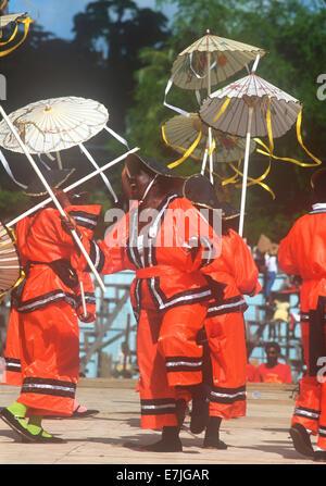 El carnaval, en St. Georges, Grenada, el Caribe.