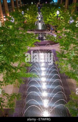 Fuentes en la ciudad Creek en Salt Lake City, Utah