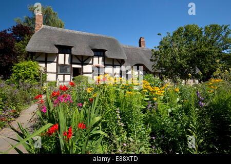 La cabaña de Anne Hathaway, Stratford-upon-Avon, Warwickshire, Inglaterra, Reino Unido, Europa
