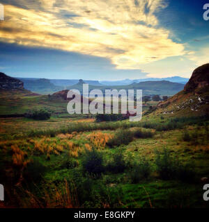 Bloemfontein, Clarens, Bayswater, Sudáfrica interminables valles en Clarens