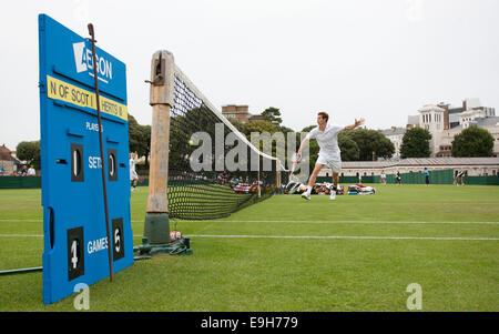 Jugador de tenis británico Andrew Murray jugando durante la semana en el condado de Devonshire Park, Eastbourne. Imagen James Boardman.