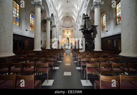 Interior, la Chapelle Notre Dame du Finistère iglesia, Bruselas, Región de Bruselas, Bélgica