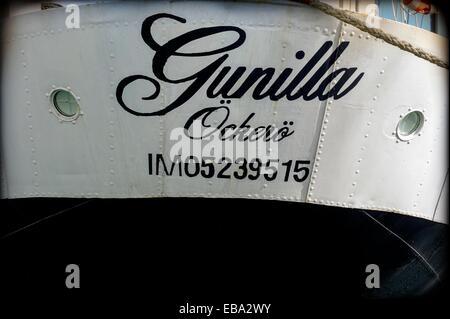 Gunilla, Ockero, Suecia, buque escuela, barco velero, Vintage 1941, Gunilla, OCKERO, Suecia, la formación barco, velero,