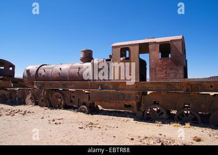 Cementerio de Trenes de Uyuni, Bolivia, Uyuni Foto de stock