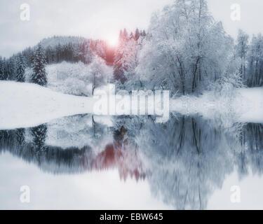 DE - Baviera: Winter Wonderland Foto de stock