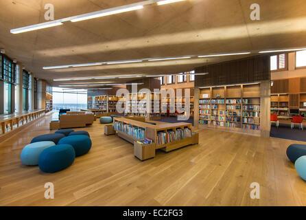 Biblioteca léxico dlr Dun Laoghaire Foto de stock