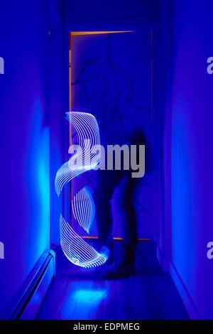 Luz de caprichosas formas de pintura con luz led stick