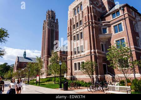 Illinois, IL, Midwest, Chicago, Hyde Park, campus, Universidad de Chicago, Asia Asian Etnia inmigrantes inmigrantes Foto de stock