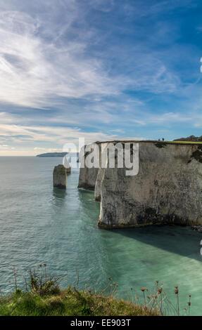 Old harry rocks, swanage, studland, Dorset Foto de stock