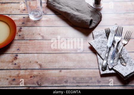 En la mesa de la cocina, top wiev