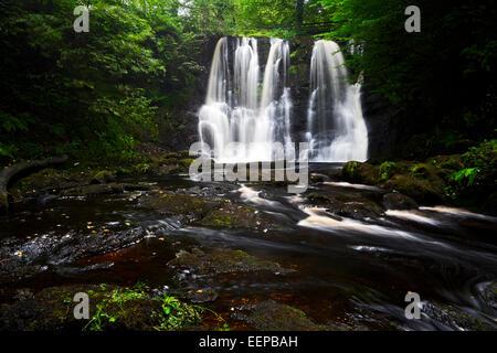 Ess-na-crub cascada en glenariff, Condado de Antrim Irlanda