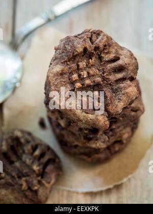 Flourless Sin Gluten Chocolate Cookies de garbanzo.