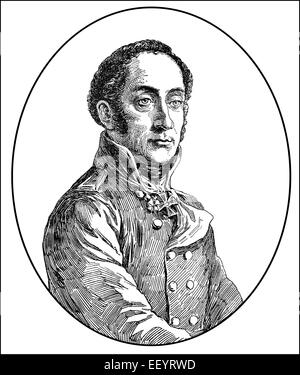 Friedrich Bogislav Emanuel Graf von Tauentzien Wittenberg, 1760 - 1824, un general prusiano de las guerras napoleónicas,