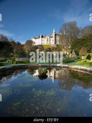 Castillo cerca de Dunrobin Golspie, Highland, Escocia. El asiento de la familia del conde de Sutherland y el Clan Sutherland.