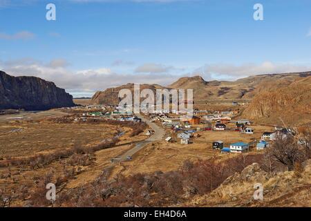 Argentina, Patagonia, Santa Cruz, El Chalten village en invierno