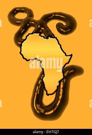 Epidemia de ébola, obra conceptual Foto de stock