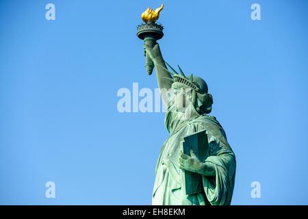Estatua de la libertad en la Ciudad de Nueva York. Foto de stock