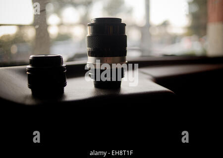Lentes de cámara Foto de stock