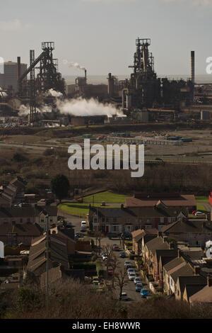 Tata Steel Strip UK Productos obras de Port Talbot, Tata Steel Works, Port Talbot, Gales del Sur, el Reino Unido, la Unión Europea.