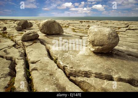 Paisaje cárstico. El Burren, en el condado de Clare. Irlanda