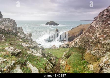 Las rabadillas cornwall Inglaterra en la ruta de la costa