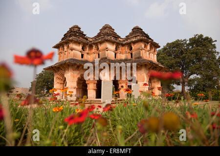 Lotus Mahal en Hampi, Karnataka, India, Asia