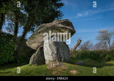 Carreg Coetan Arthur cámara mortuoria neolítica (Cromlech) en Newport, Pembrokeshire (Gales)