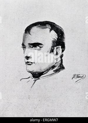 Napoleón Bonaparte (1769 - 1821) - líder político y militar francés c.1870. El emperador de Francia (1804 a 1815). Foto de stock